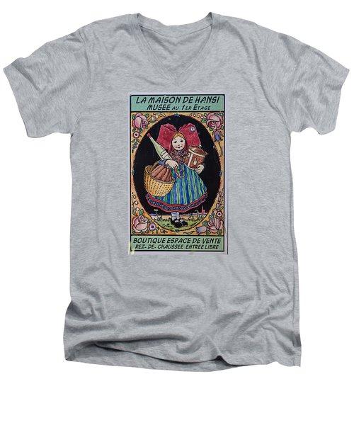 La Maison Hansi Poster Men's V-Neck T-Shirt