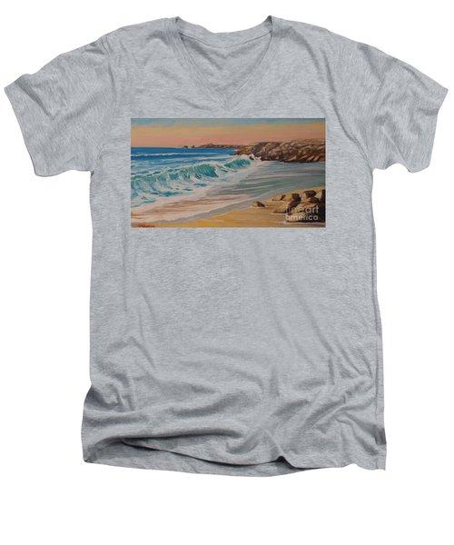 La Pointe Du Raz, Bretagne, France Men's V-Neck T-Shirt