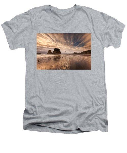 La Push Sunset Men's V-Neck T-Shirt