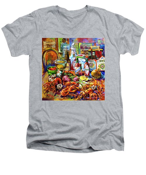 La Table De Fruits De Mer Men's V-Neck T-Shirt