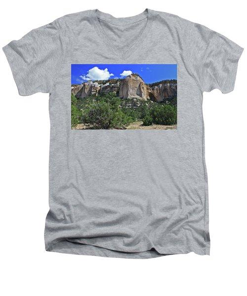 Men's V-Neck T-Shirt featuring the photograph La Ventana Arch by Gary Kaylor