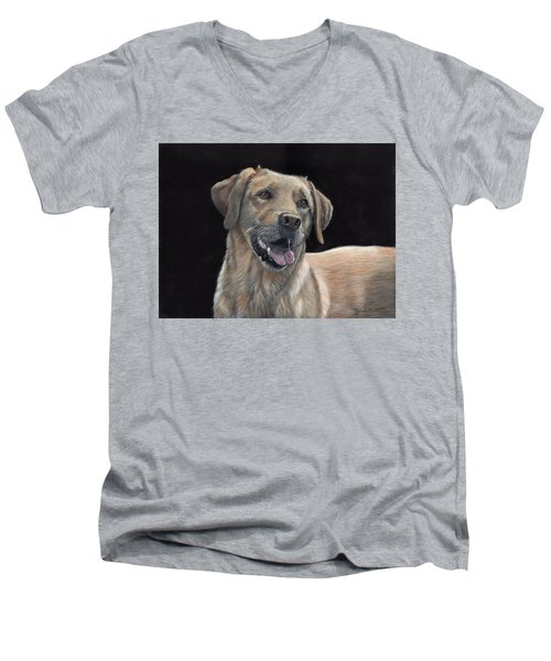 Labrador Portrait Men's V-Neck T-Shirt