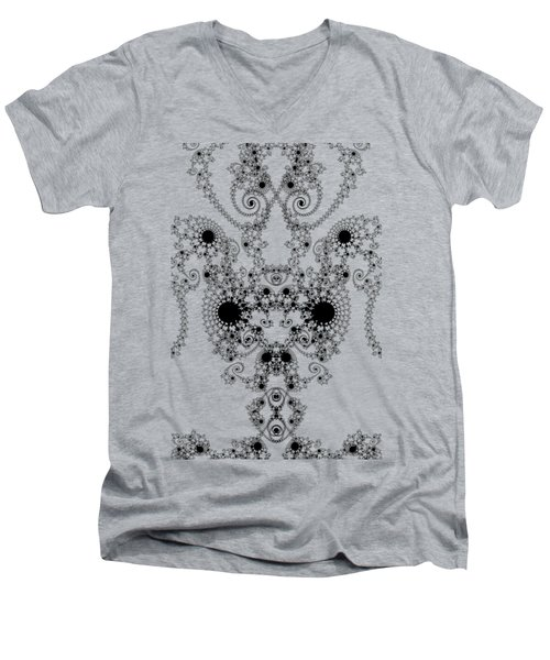 Lace Men's V-Neck T-Shirt