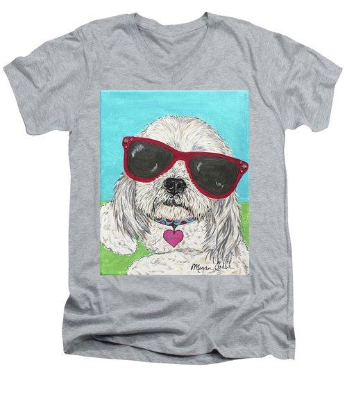 Laci With Shades Men's V-Neck T-Shirt