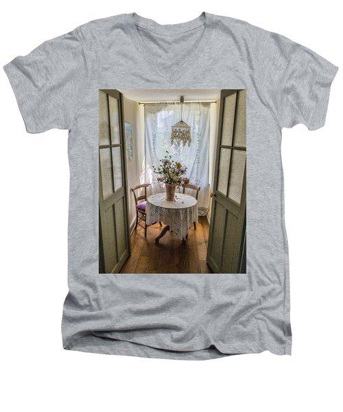 Lacy Alcove Men's V-Neck T-Shirt