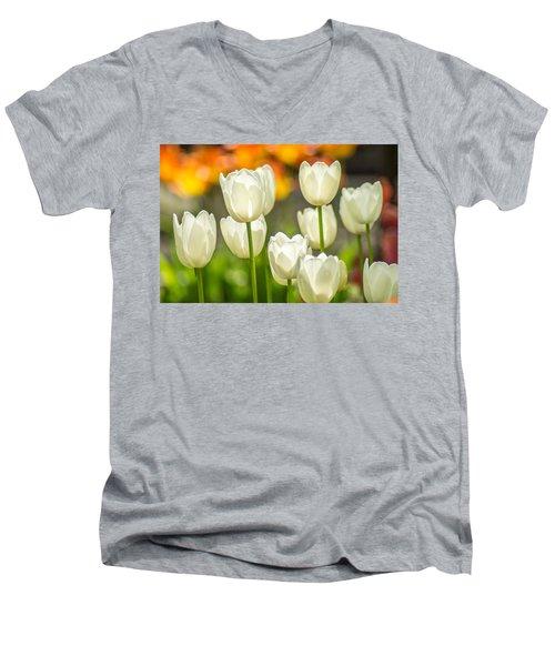 Ladies In White Men's V-Neck T-Shirt