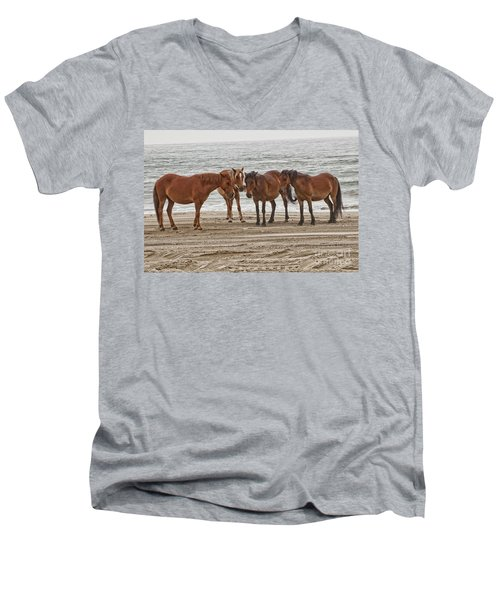 Ladies On The Beach Men's V-Neck T-Shirt