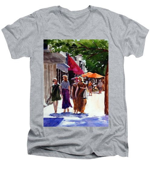 Ladies That Shop Men's V-Neck T-Shirt by Ron Stephens