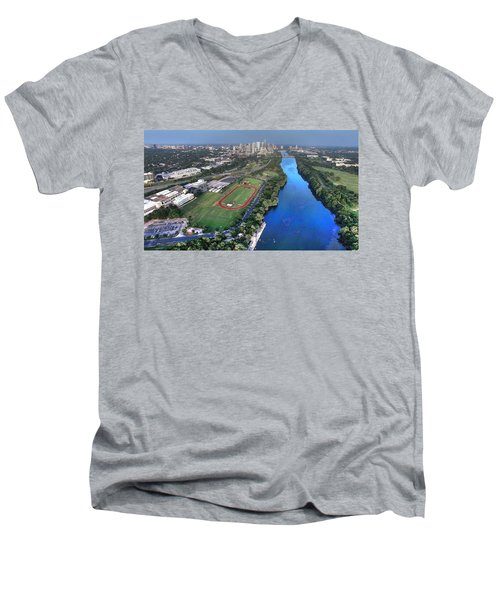 Lady Bird Lake Men's V-Neck T-Shirt by Andrew Nourse