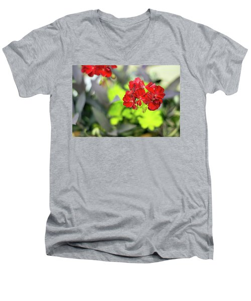 Lady In Red Men's V-Neck T-Shirt