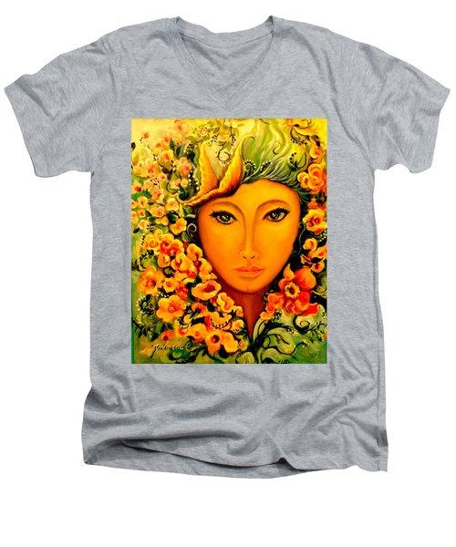 Lady Sring Men's V-Neck T-Shirt