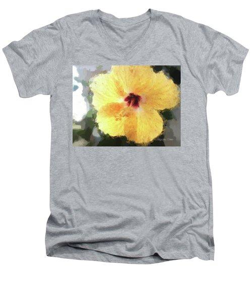 Lady Yellow Men's V-Neck T-Shirt