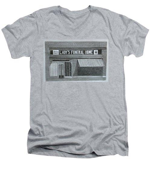 Lady's 1934 Men's V-Neck T-Shirt by Tony Clark