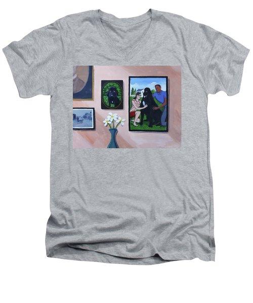 Lady's Family Gallery Men's V-Neck T-Shirt