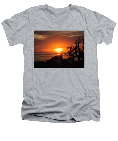 Laguna Beach California Feb 2016 Men's V-Neck T-Shirt by Dan Twyman