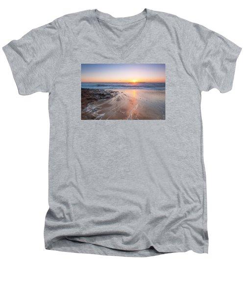 Laguna Beach  Men's V-Neck T-Shirt by Catherine Lau