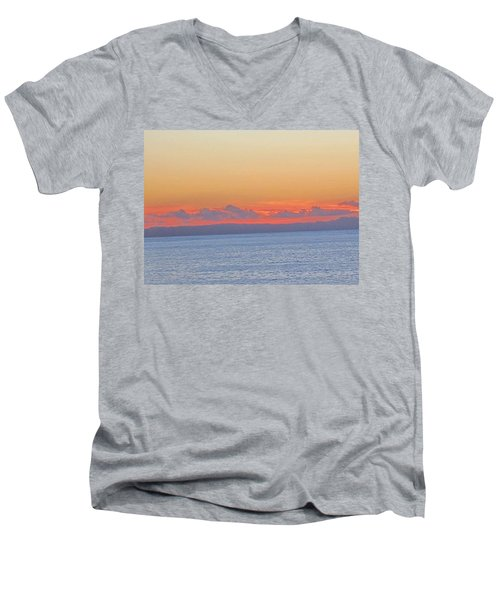 Laguna Orange Sky Men's V-Neck T-Shirt by Dan Twyman