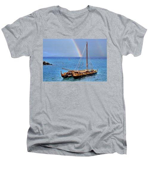 Lahaina Harbor Men's V-Neck T-Shirt