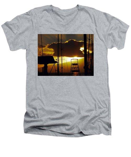 Lahaina Sunsets 5 Men's V-Neck T-Shirt