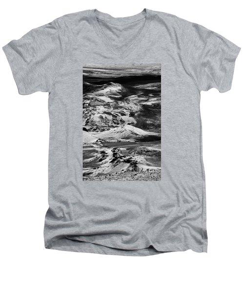 Men's V-Neck T-Shirt featuring the photograph Lakagigar Iceland by Rudi Prott
