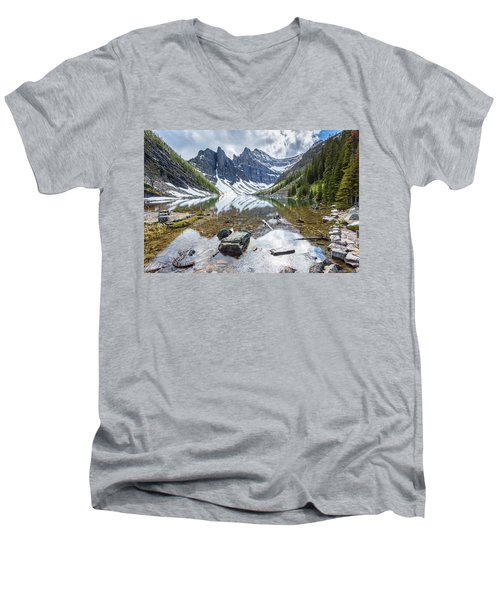 Lake Agnes Men's V-Neck T-Shirt