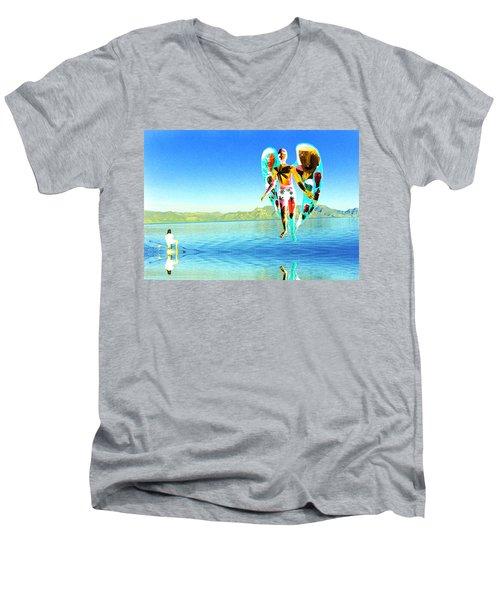 Lake Angel Men's V-Neck T-Shirt