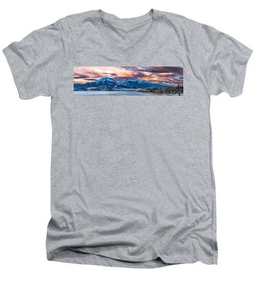 Men's V-Neck T-Shirt featuring the photograph Lake Dillon by Sebastian Musial