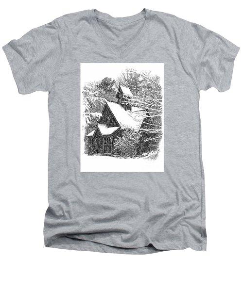 Lake Effect Snow Men's V-Neck T-Shirt by Jim Rossol