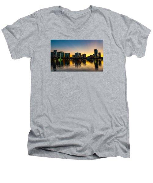 Lake Eola Sunset Men's V-Neck T-Shirt