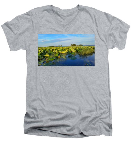 Pointe Mouilee Lake Erie Men's V-Neck T-Shirt