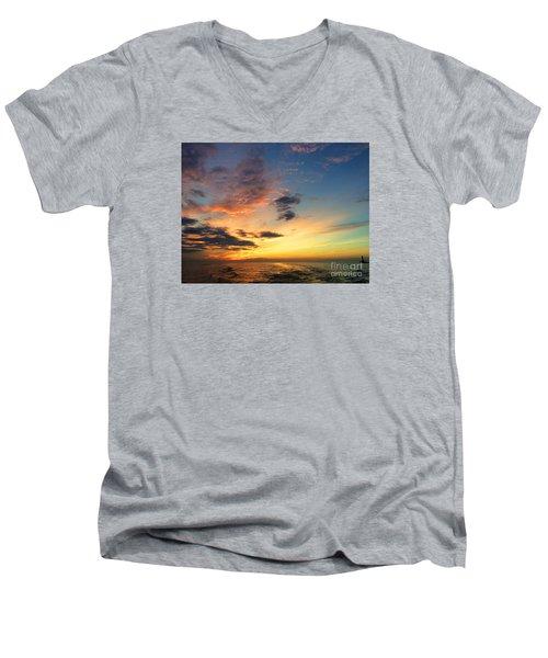 Lake Erie Sunset 2 Men's V-Neck T-Shirt