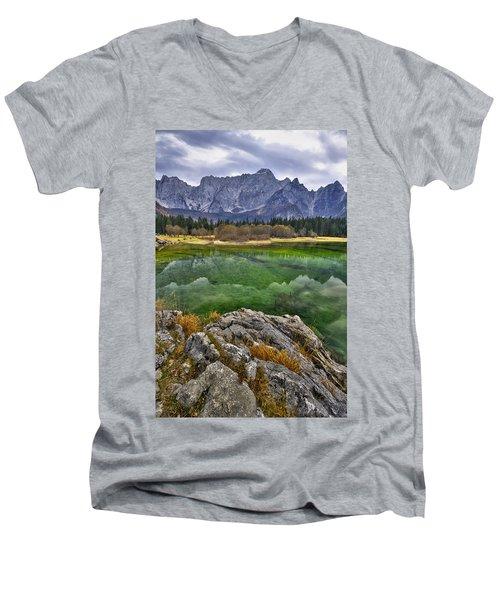 Lake Fusine Men's V-Neck T-Shirt