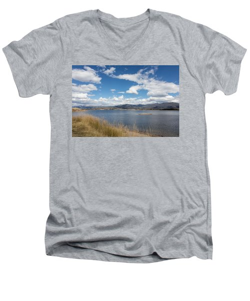 Men's V-Neck T-Shirt featuring the photograph Lake Granby -- The Third-largest Body Of Water In Colorado by Carol M Highsmith