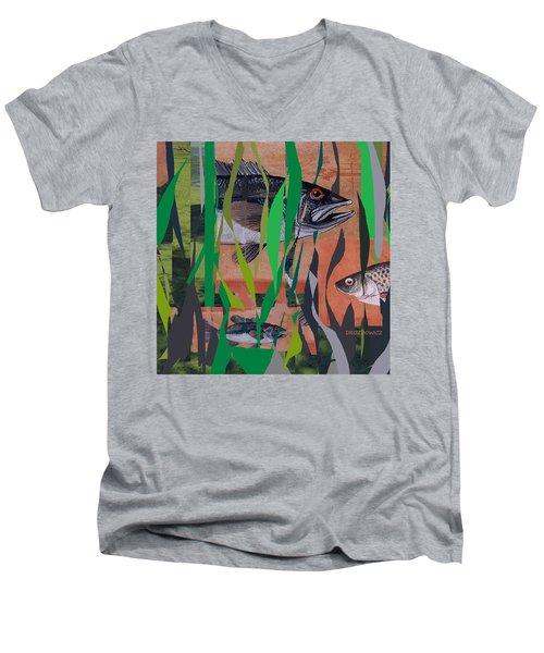 Lake Habitat Men's V-Neck T-Shirt by Andrew Drozdowicz