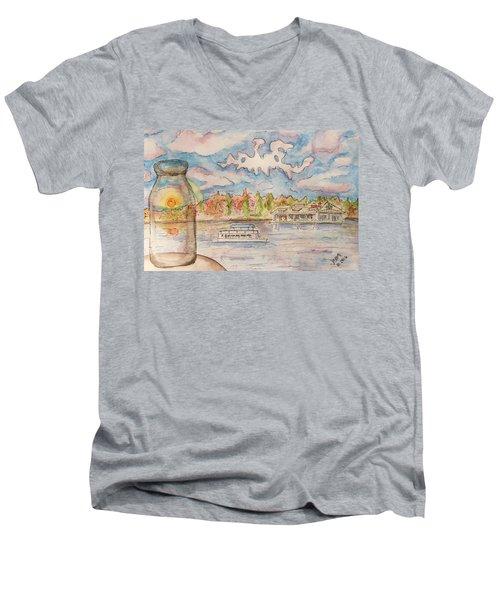 Lake Hopatcong Men's V-Neck T-Shirt