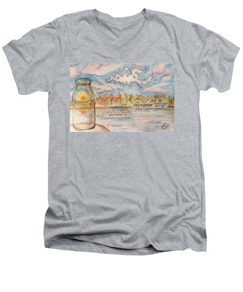Lake Hopatcong Men's V-Neck T-Shirt