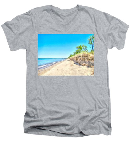 Lake Huron Shoreline Men's V-Neck T-Shirt