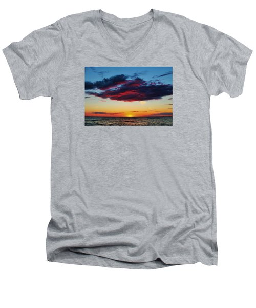 Lake Huron Sunset Men's V-Neck T-Shirt