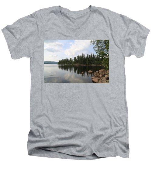 Lake In The Woods Men's V-Neck T-Shirt