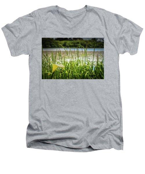 Lake Lily Men's V-Neck T-Shirt