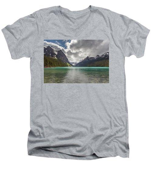 Lake Louise, Banff National Park Men's V-Neck T-Shirt