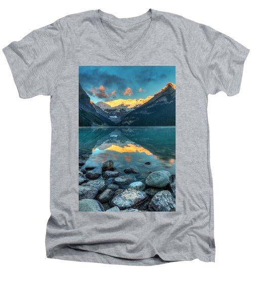 Lake Louise Sunrise Men's V-Neck T-Shirt