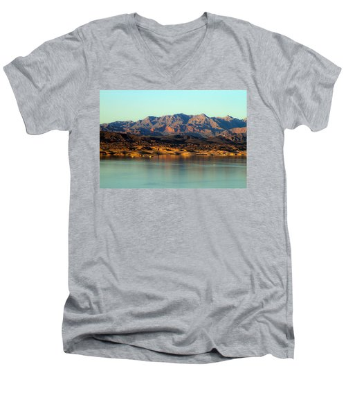 Lake Mead Before Sunset Men's V-Neck T-Shirt