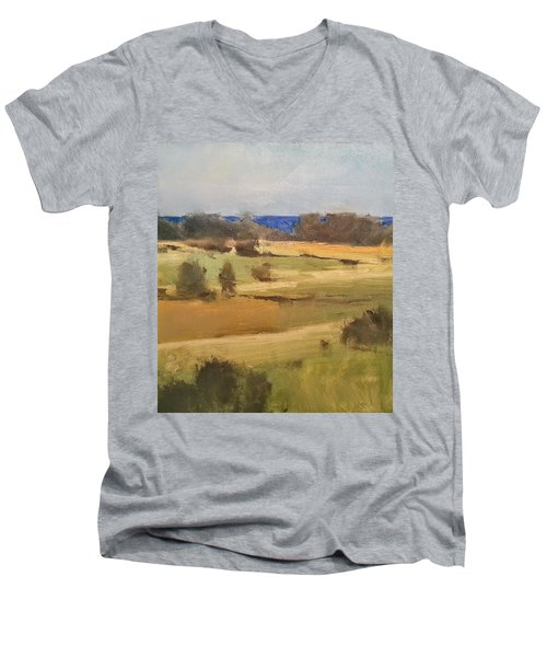 Lake Michigan Across The Field Men's V-Neck T-Shirt