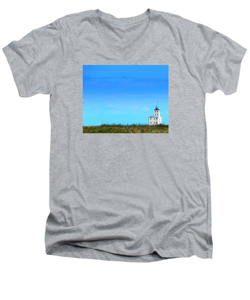 Lake Michigan Lighthouse Men's V-Neck T-Shirt