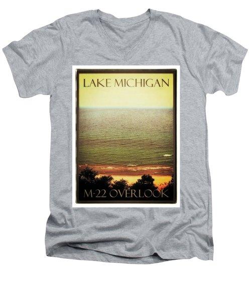 Lake Michigan M-22 Overlook Men's V-Neck T-Shirt
