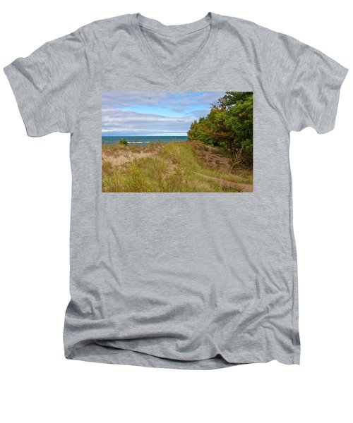 Lake Michigan Shore Men's V-Neck T-Shirt