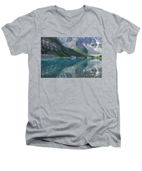 Men's V-Neck T-Shirt featuring the photograph Lake Moraine by Patricia Hofmeester