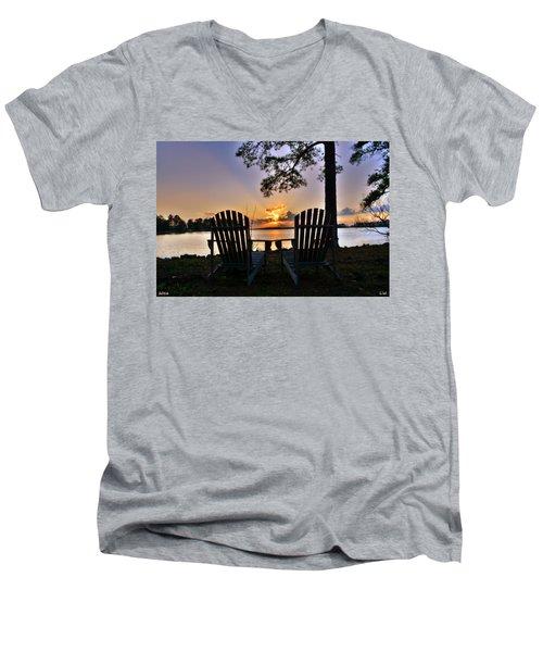 Lake Murray Relaxation Men's V-Neck T-Shirt