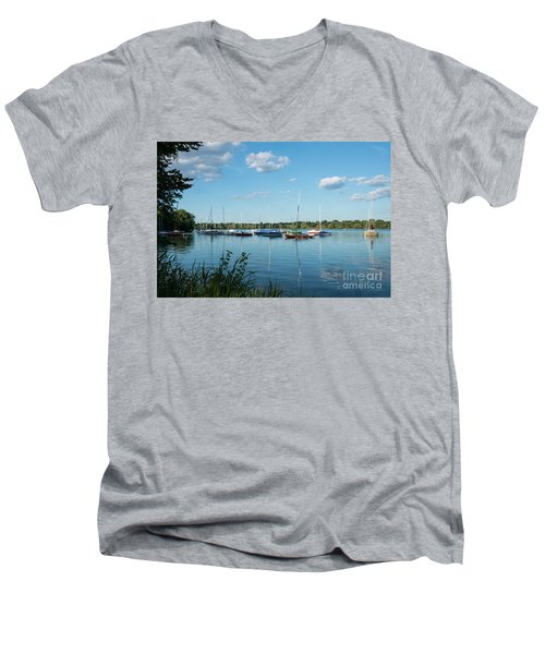 Lake Nokomis Minneapolis City Of Lakes Men's V-Neck T-Shirt